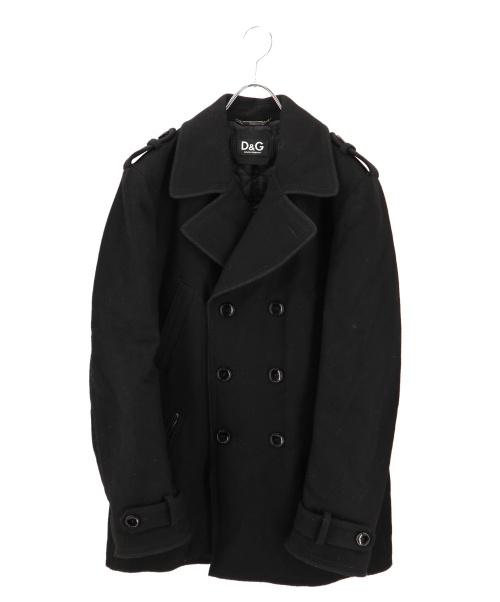 D&G(ドルチェアンドガッバーナ)D&G (ドルチェアンドガッバーナ) エポーレット付きPコート ブラック サイズ:44 PC0100 TN2ASの古着・服飾アイテム