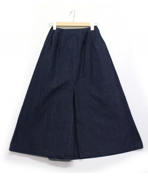 .efiLevol(エフィレボル).efiLevol (エフィレボル) デニムスカート ネイビー サイズ:0 参考定価26.889円の古着・服飾アイテム