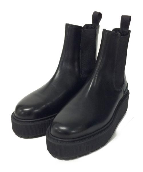 THE RERACS(ザリラクス)THE RERACS (ザリラクス) サイドゴアブーツ ブラック サイズ:23.5の古着・服飾アイテム