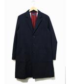 FRED PERRY(フレッドペリー)の古着「ブリティッシュチェスターコート」 ネイビー