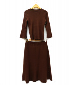 Maglie par ef-de(マーリエパーエフデ)の古着「ニットセットアップ」|ブラウン