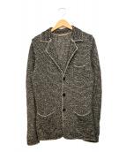 CRUCIANI(クルチアーニ)の古着「ローゲージニットジャケット」|グレー