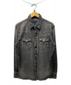 ()の古着「デニムウエスタンシャツ」|ブラック