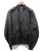 YohjiYamamoto pour homme(ヨウジヤマモトプールオム)の古着「リバーシブルリネンブルゾン」|ブラック