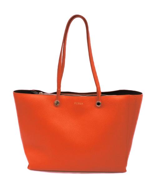 FURLA(フルラ)FURLA (フルラ) トートバッグ オレンジ サイズ:下記参照 エデンの古着・服飾アイテム