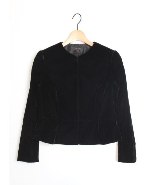 TOCCA(トッカ)TOCCA (トッカ) NEASDENベロアジャケット ブラック サイズ:2の古着・服飾アイテム