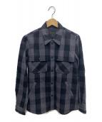 Hysteric Glamour(ヒステリックグラマー)の古着「刺繍CPOシャツ」|ブラック