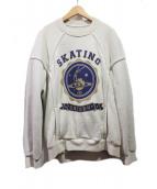 Maison Margiela(メゾンマルジェラ)の古着「スケートプリントスウェットシャツ」|ベージュ
