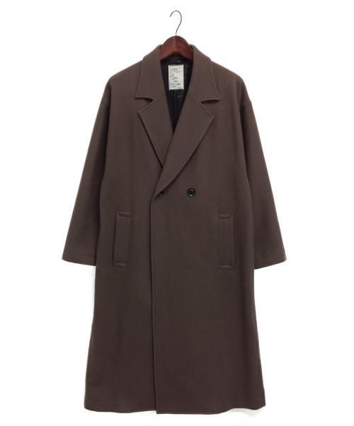 SHAREEF(シャリーフ)SHAREEF (シャリーフ) メルトンロングコート ブラウン サイズ:2の古着・服飾アイテム