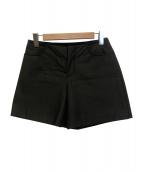 MM6(エムエムシックス)の古着「コーティングデザインショートパンツ」|ブラック