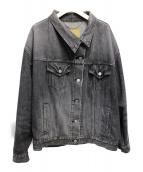 BALENCIAGA(バレンシアガ)の古着「プルドデニムジャケット」|ブラック