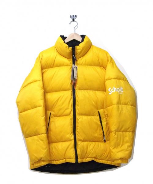 Schott×ATMOS LAB(ショット×アトモスラボ)Schott×ATMOS LAB (ショット×アトモスラボ) リバーシブルダウンジャケット イエロー サイズ:L 未使用品の古着・服飾アイテム