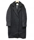 CLANE()の古着「シャギーロングコート」|ブラック