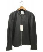 UNITED TOKYO(ユナイテッドトーキョー)の古着「ラムシングルライダース」|ブラック
