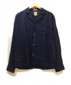 Sanca(サンカ)の古着「オープンカラーシャツジャケット」|ネイビー