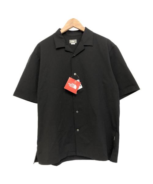 THE NORTH FACE(ザノースフェイス)THE NORTH FACE (ザノースフェイス) オープンカラーニットシャツ ブラック サイズ:Mの古着・服飾アイテム