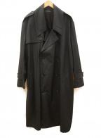 DRESSEDUNDRESSED(ドレスドアンドレスド)の古着「オーバーサイズトレンチコート」 ネイビー