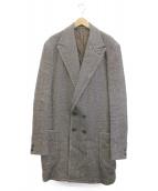 KOLOR(カラー)の古着「ヘリンボーンチェスターコート」|グレー