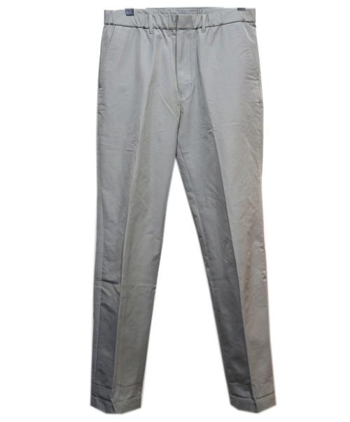 N.HOOLYWOOD(エヌハリウッド)N.HOOLYWOOD (エヌハリウッド) ナイロンセンタープレストラウザー グレー サイズ:38の古着・服飾アイテム