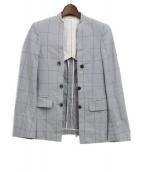 COMME des GARCONS HOMME PLUS(コムデギャルソンオムプリュス)の古着「カットオフジャケット」|ライトグレー
