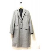 HUMAN WOMAN(ヒューマンウーマン)の古着「カシミヤ混ウールチェスターコート」 グレー