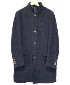 eleventy(イレブンティ)の古着「スタンドカラーネップコート」 ネイビー