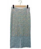 ACNE STUDIOS(アクネステュディオズ)の古着「 Porto Lace Pencil Skirt」|スカイブルー