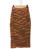 STELLA McCARTNEY(ステラ・マッカートニー)の古着「タイトニットスカート」|ブラウン