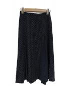 KUMIKYOKU(クミキョク)の古着「ipekerドットプリントスカート」 ネイビー