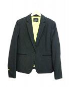 PS Paul Smith(ピーエスポールスミス)の古着「クロスドビーテーラリングジャケット」|ブラック