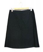 PS Paul Smith(ピーエスポールスミス)の古着「クロスドビーテーラリング スカート」|ブラック