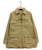 SINME(シンメ)の古着「プルオーバーシャツ」|カーキ