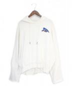 OFFWHITE(オフホワイト)の古着「イーグル刺繍パーカー」|ホワイト