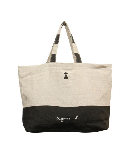 agnes b.(アニエスベー)agnes b. (アニエスベー) トートバッグ アイボリー MX01-01の古着・服飾アイテム