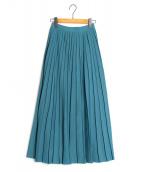 FRAY ID(フレイアイディー)の古着「アイレットプリーツニットスカート」|ブルー
