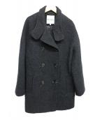 KENZO(ケンゾー)の古着「ファンネルネックピーコート」|ブラック