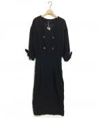Emma Taylor(エマテイラー)の古着「ミリタリーコクーンドレス」|ブラック