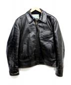 Aero LEATHER(エアロレザー)の古着「ホースハイドレザージャケット」|ブラック