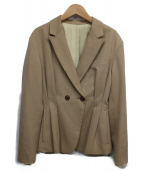 BACCA(バッカ)の古着「コットンウールギャバジンペプラムジャケット」|ベージュ