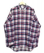 Sise(シセ)の古着「フランネルワイドシャツ」|レッド