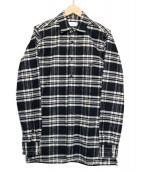 Sise(シセ)の古着「フランネルロングシャツ」|ブラック