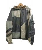 ANREALAGE(アンリアエイジ)の古着「ジオメトリックパネルドジャケット」|オリーブ