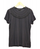 tricot COMME des GARCONS(トリコ コムデギャルソン)の古着「レースデザインTシャツ」|ブラック