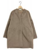 NINE(ナイン)の古着「リバーシブルファーコート」|ベージュ