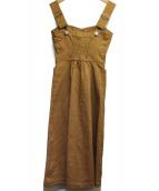 The Virgnia(ザヴァージニア)の古着「デニムドレスワンピース」|ブラウン