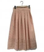 OBLI(オブリ)の古着「レーススカート」 ピンク