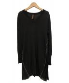 MIHARA YASUHIRO(ミハラヤスヒロ)の古着「SIDE ZIP KNIT O/P」|ブラック