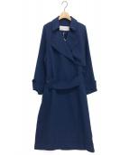 LE CIEL BLEU(ルシェルブルー)の古着「パイピングエアリートレンチコート」 ブルー