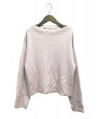 GALERIE VIE(ギャラリーヴィー)の古着「スーピマコットンハイネックプルオーバー」|ピンク