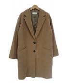 EN ROUTE(アンルート)の古着「ドロップショルダーチェスターコート」|ブラウン